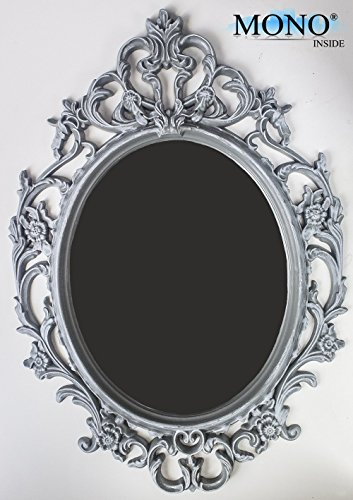 Lowest price monoinside small decorative framed oval wall for Plastic baroque mirror