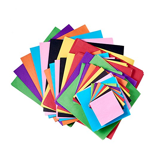 KISSITTY 4-Size Colorful Square Tissue Paper Kits (2