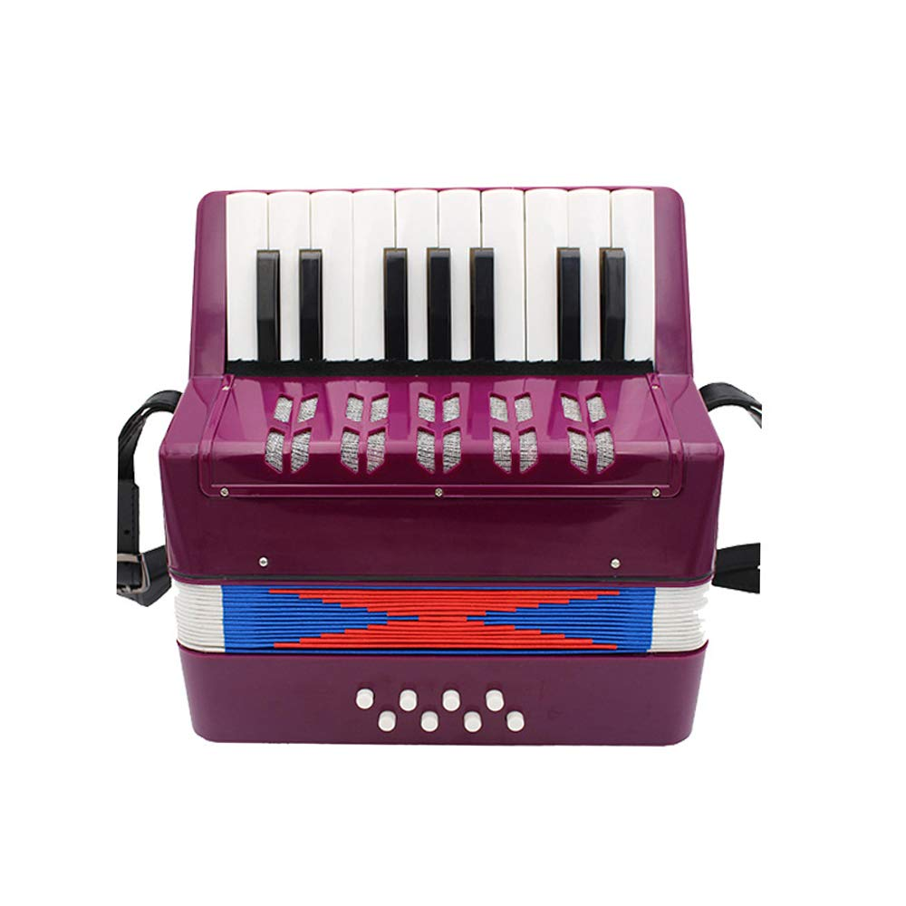 TECHLINK Children's Accordion Musical Toy Promotes Early Musical Education 17 Keys 8 Bass Button Accordions for Beginners Students Childern,Purple by TECHLINK (Image #1)