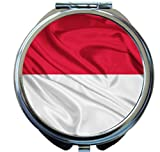 Rikki Knight Indonesia Flag Design Round Compact Mirror