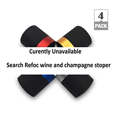 Refoc Wine and Champagne Stopper, an Airtight and Leak Proof Seal, Perfect for Keeping Wine and Champagne Bottle Fresh Effectively and Easily (5 WIne Stopper)