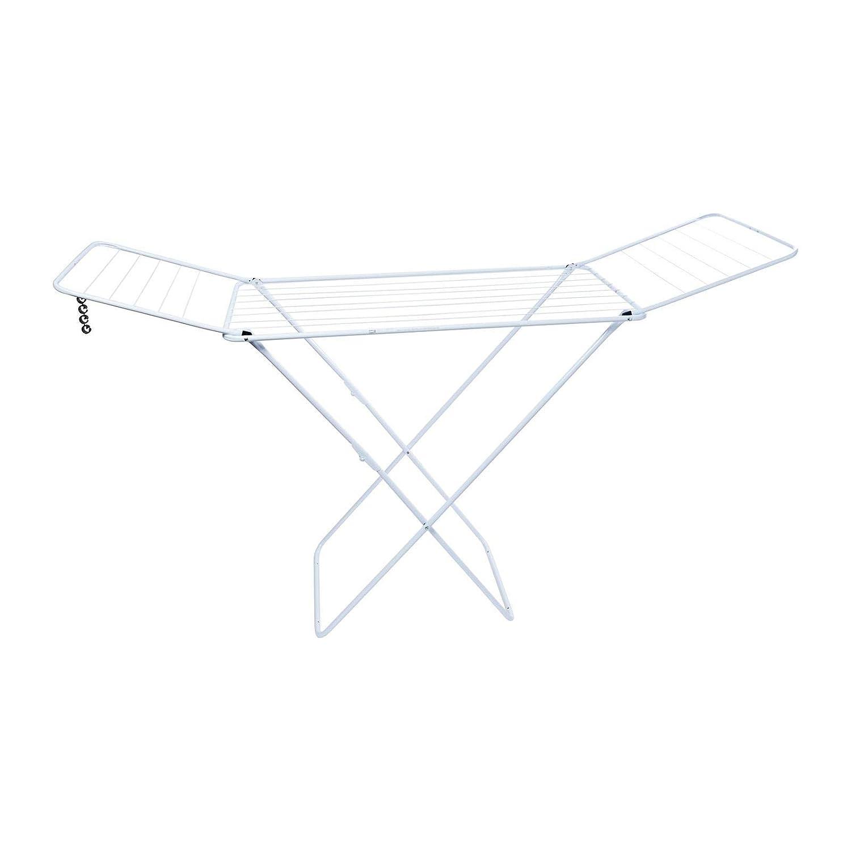 Gimi Jolly - Tendedero X-legs de acero con alas plegables, 18 metros de espacio de tendido, compacto y fácil de guardar, dimensiones abierto 180 x 55 x 93 cm, color blanco