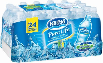"Nestle Waters North America 101264 ""Nestle Pure Life"" Purified Water 16.9 Oz (Pack of 24)"