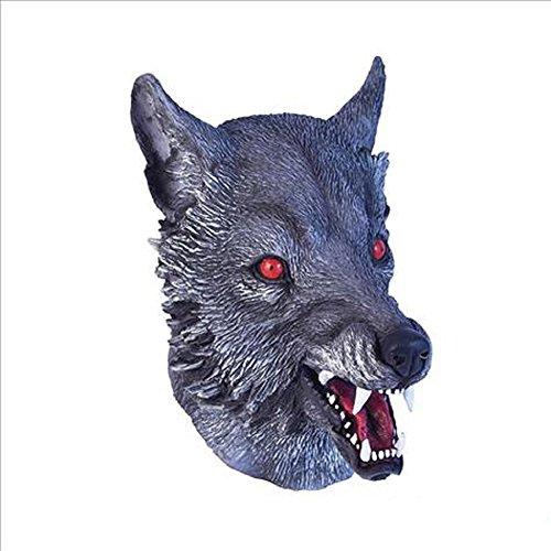 Grey Adult Latex Wolf Werewolf (Werewolf Latex Mask)