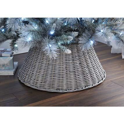 VENEXA-TRADER Solid Large Wicker Tree Skirt 65cm - Ash - VENEXA-TRADER Solid Large Wicker Tree Skirt 65cm - Ash: Amazon.co.uk