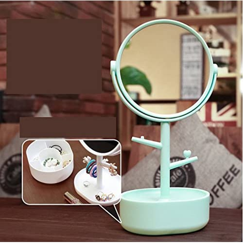 6Inch double-sided tabletop makeup mirror/ cute Princess vanity mirror/ creative circle mirror/ three times times magnifying-D high-quality
