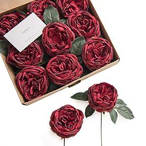 Ling's moment Artificial Antique Lace Garden Rose Austin Rose for DIY Wedding Party Centerpieces Arrangements Decor 18