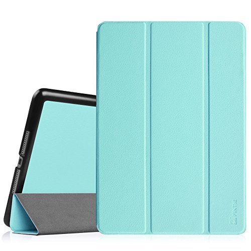 Fintie iPad Air 2 Case - [SlimShell] Ultra Lightweight Stand Smart Protective Cover with Auto Sleep/Wake Feature for Apple iPad Air 2, Sky (Blue Flip Lid 6 Personal)
