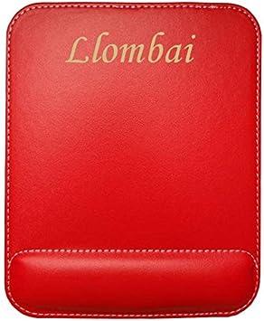 Almohadilla de cuero sintético de ratón personalizado con el texto: Llombai (ciudad / asentamiento)