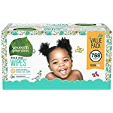 Seventh Generation  Free & Clear Sensitive Baby Wipes with Flip-Top Dispenser 768 count