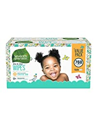 Seventh Generation Thick & Strong Baby Wipes, Free & Clear with Flip Top Dispenser, 768 count (Packaging May Vary) BOBEBE Online Baby Store From New York to Miami and Los Angeles