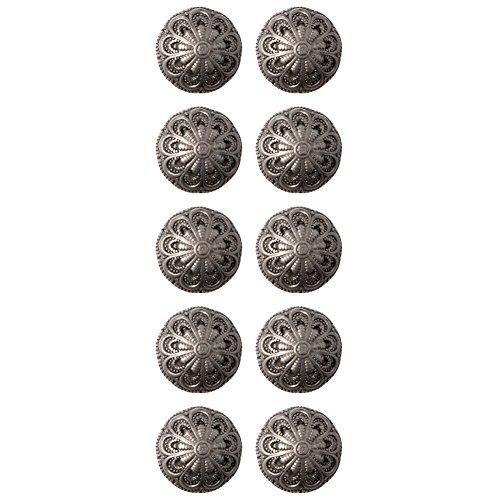 - Baroque Design Full Ball ABS Metal Plated Shank Button 20Line Matte Antique Nickel