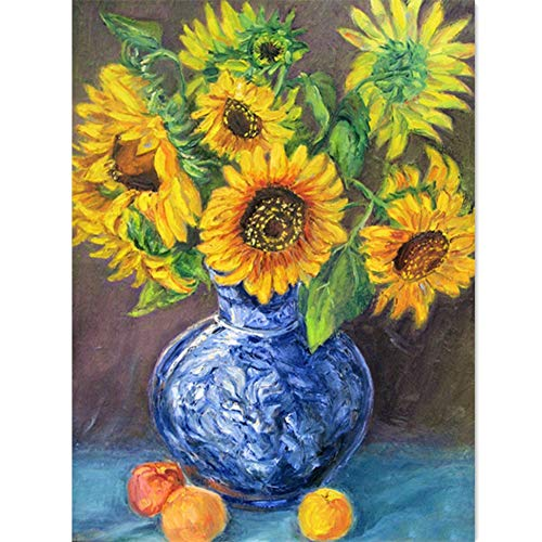 Resin Stone Oil Vase (ShuoBeiter Full Drill 5D Diamond Painting Kits DIY Painting by Numbers for Adults Cross Stitch Embroidery Arts 30X40cm (Oil Painting vase))