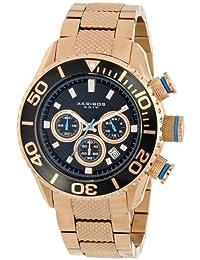 Akribos XXIV Men's AK512RG Conqueror Large Diver's Chronograph Bracelet Watch