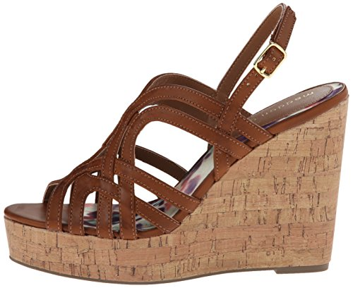 887865300243 - Madden Girl Women's Eliite Wedge Sandal, Cognac Paris, 10 M US carousel main 4