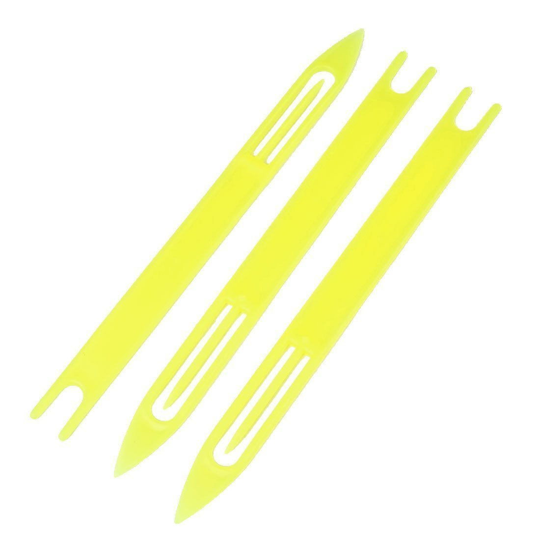 R 3 pcs en plastique jaune Aiguille de reparation de Net de peche 8 # SODIAL Aiguille de reparation de Net