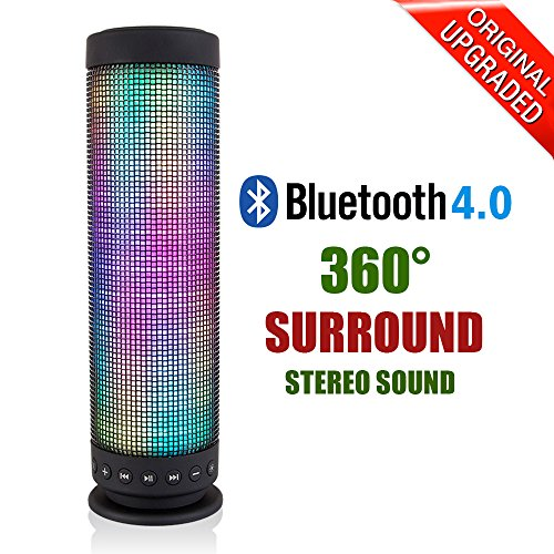 Milool Bluetooth Speaker LED Colorful Portable Wireless Bluetooth 4.0...