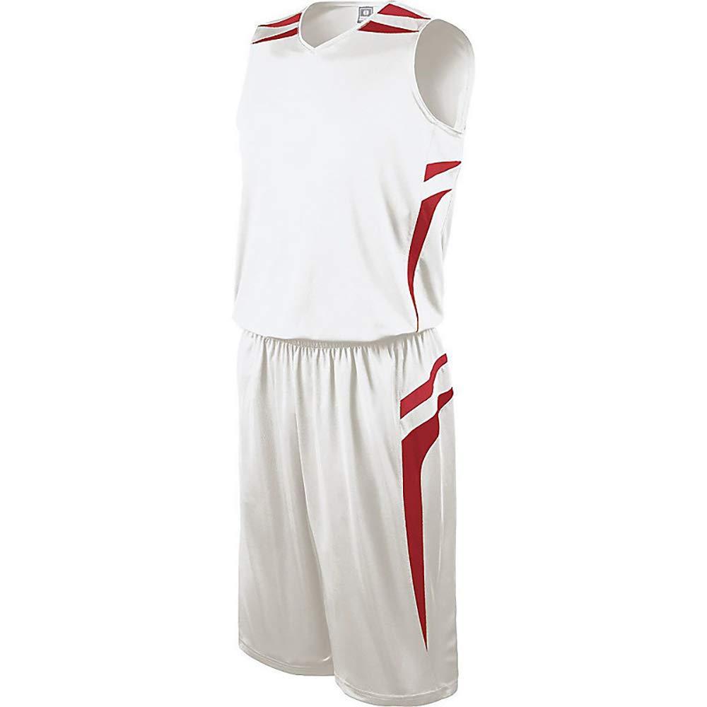 Holloway Youth Prodigy Basketball Short B00EF3WAEM White|Scarlet X-Large