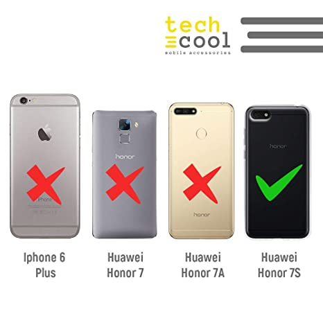 Textura lineas Azul Funnytech/® Funda Silicona para Huawei Honor 7S Gel Silicona Flexible, Dise/ño Exclusivo