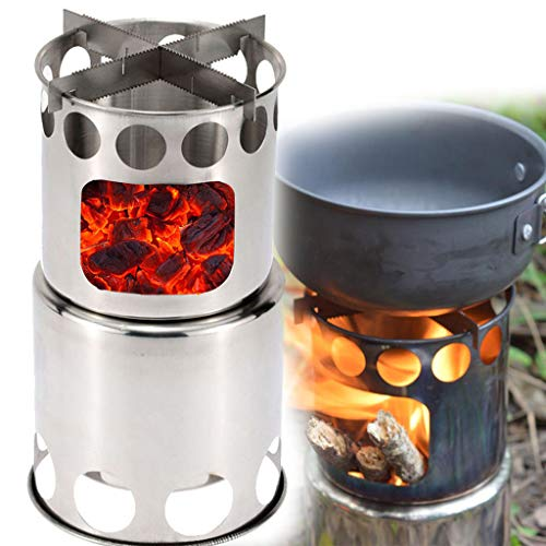 ️ Yu2d ❤️❤️ ️Barbecue BBQ Chimney Starter Charcoal Grill Steel Rapid Quick Fire Lighter]()
