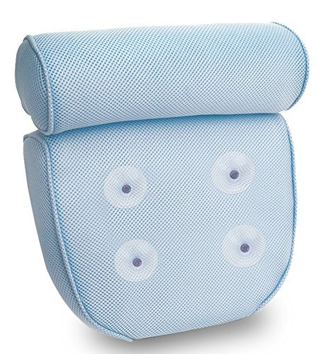 Kleeger Non Slip Home Spa Jacuzzi Bath Pillow With Back And Neck Support. Anti-Mold/Mildew,...