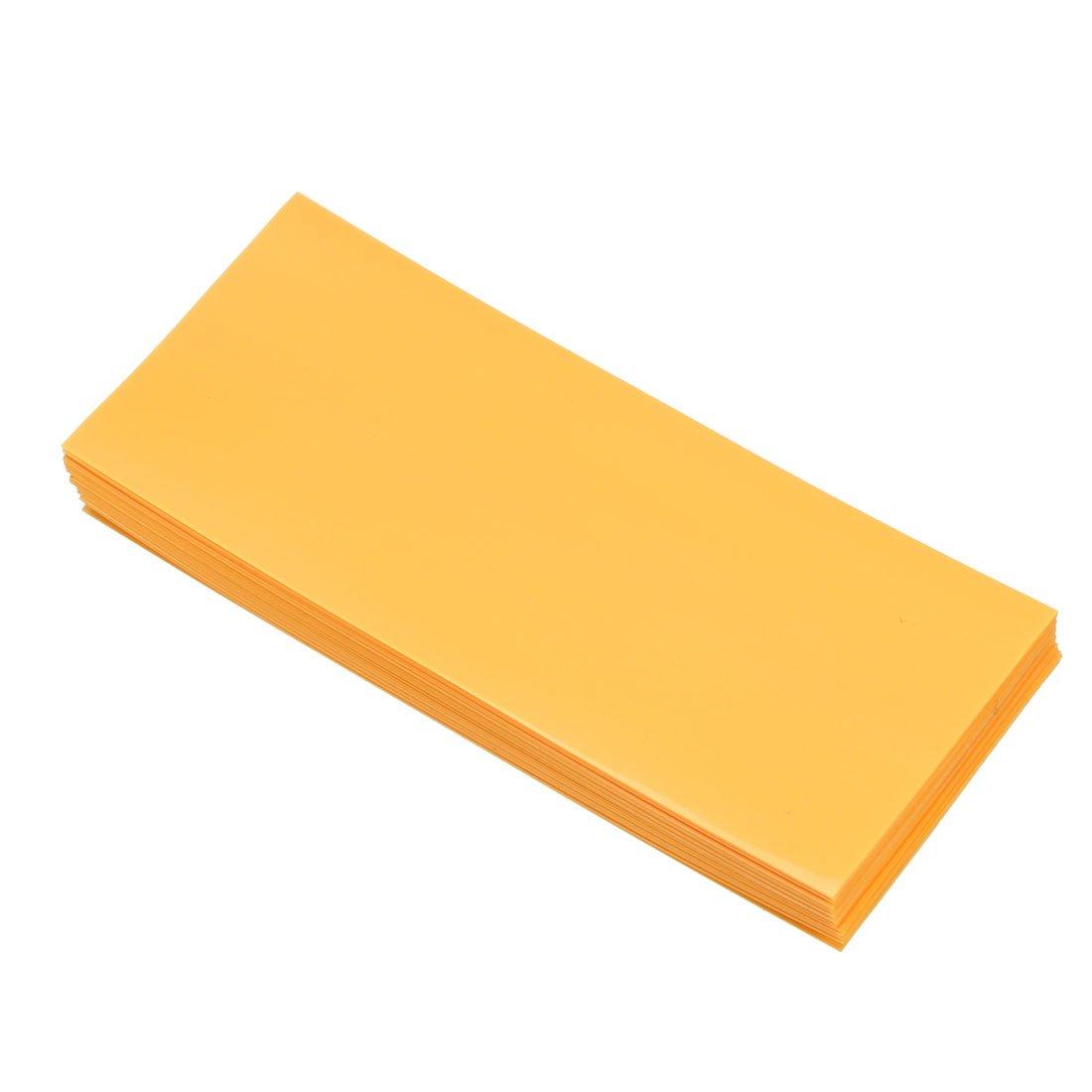 Sourcingmap Tube thermor/étractable en PVC 29,5 mm jaune 29.5mm-20pcs