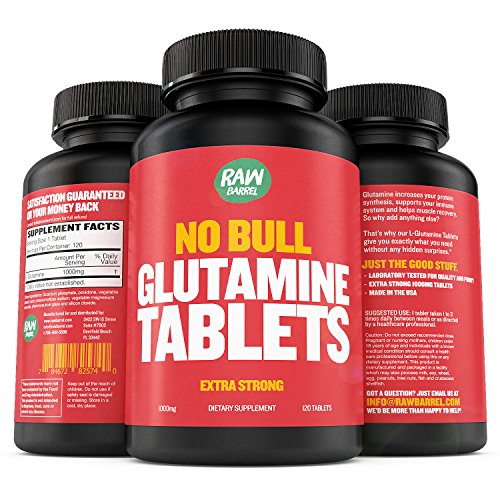 Raw Barrel's Pure L-Glutamine Tablets