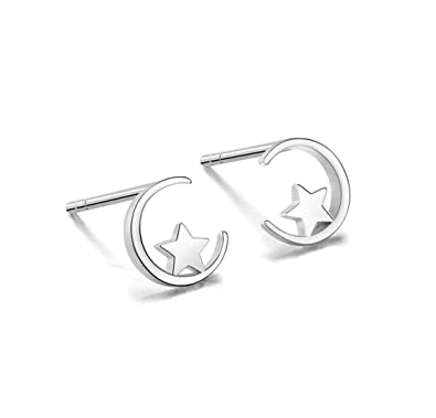 7e4a2578d263d iszie jewellery sterling silver sweet little mini moon and star stud ...