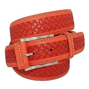 almela - Cinturón piel nobuck - Hombre y Mujer - Piel legítima - 3,5 cm de ancho - Moda Casual - Jeans, vestir, shorts… | DeHippies.com