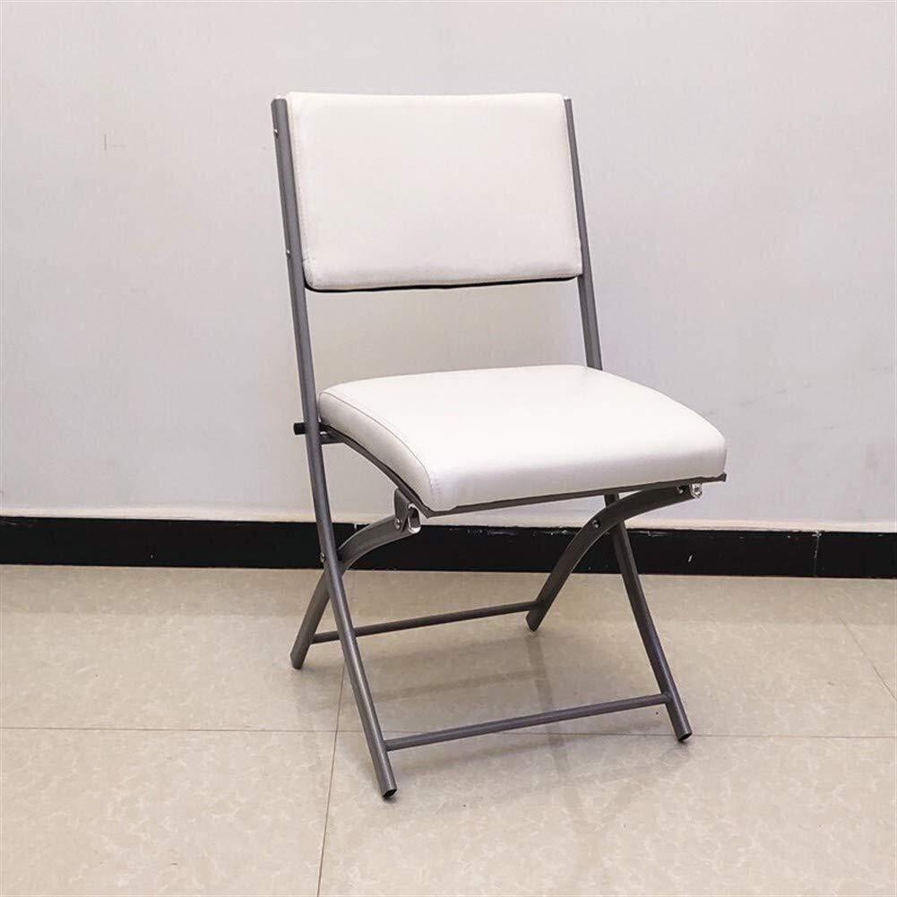 Pangpang Husgeråd, hopfällbar stol med armstöd vadderat säte och ryggstöd datorkontor (1 stol, flera färger) (Färg: Blå) Vitt