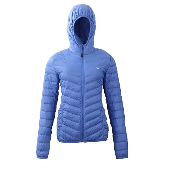 578c0065ef8 Wildcraft Women s Hooded Down Jacket - Light Blue (Lt Blue