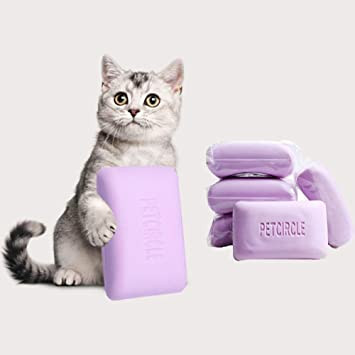 iBasteES Jabón para Mascotas Perro Gato Jabón Aliviar la comezón Jabón de baño para el baño