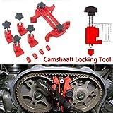 ZHUOTOP Red Universal Dual Cam Clamp Camshaft Timing Sprocket Gear Locking Tool Kit 5Pcs/Set (Size: 5Pcs Set)