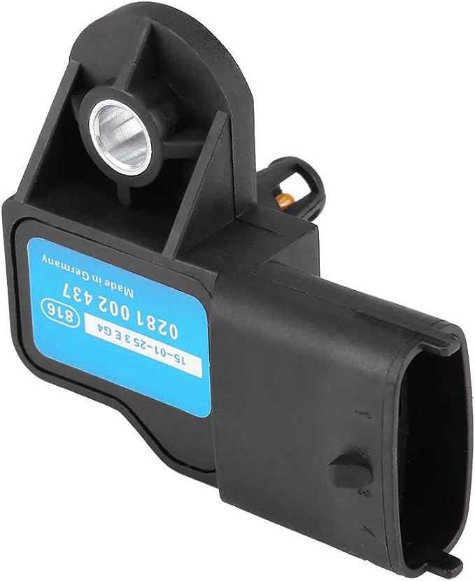 Tbest ABS Map Manifold Sensor de presi/ón de aire Turbo Boost para 0281002437 negro Sensor de presi/ón de aire Turbo Boost