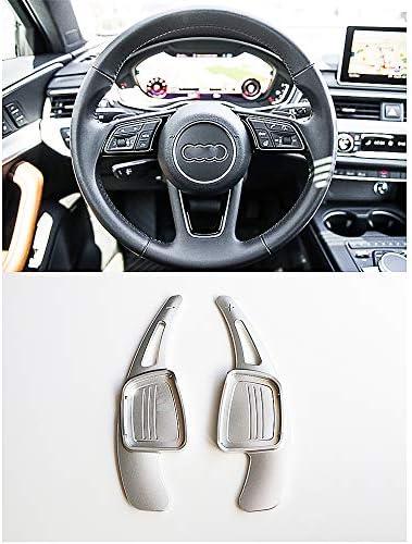 Paletas de cambio del volante 2 piezas Aleaci/ón de aluminio del volante del coche Palanca de cambio Palanca de cambio para A3 A4L A5 A6 A7 A8