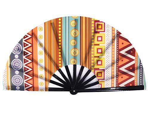 Amajiji Large Galaxy Folding Fan, Chinease/Japanese Folding Nylon-Cloth Hand Fan, Hand Folding Fans for Women/Men, Hand Fan Festival Gift Fan Craft Fan Folding Fan Dance Fan (AM7)