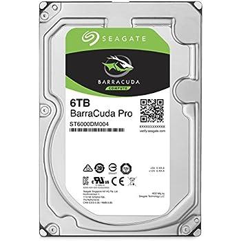 Seagate 6TB BarraCuda Pro 7200RPM SATA 6Gb/s 256MB Cache 3.5-Inch Internal Hard Drive (ST6000DM004)