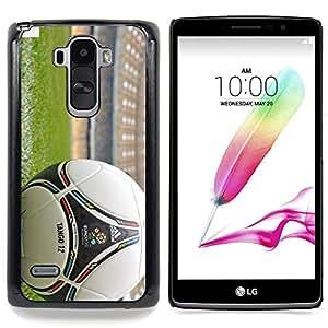 """Qstar Arte & diseño plástico duro Fundas Cover Cubre Hard Case Cover para LG G4 Stylus H540 (Balón de fútbol"""")"""