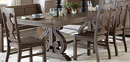 Toulon Rectangular Trestle Dining Table in Oak
