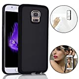 Bonice Anti-Gravity Selfie Case for Samsung Galaxy Note 4, Magical Nano Sticky Hands Free Stick to Glass, Tile, Car GPS, Most Smooth Surface - Black