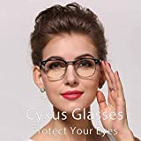 Cyxus Blue Light Filter [Anti Eye Strain] Semi-Rimless Computer Glasses, Unisex(Mens/Womens) Blocking UV Reading Eyewear