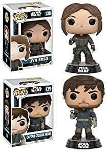 Funko POP! Star Wars Rogue One: Jyn Erso + Cassian Andor - Bobble-Head Set NEW