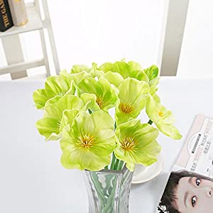 FYYDNZA 10 Pc Pu Real Touch Poppy Floral Bouquet Decorative False Flower For Room Home Wedding Decoration 82