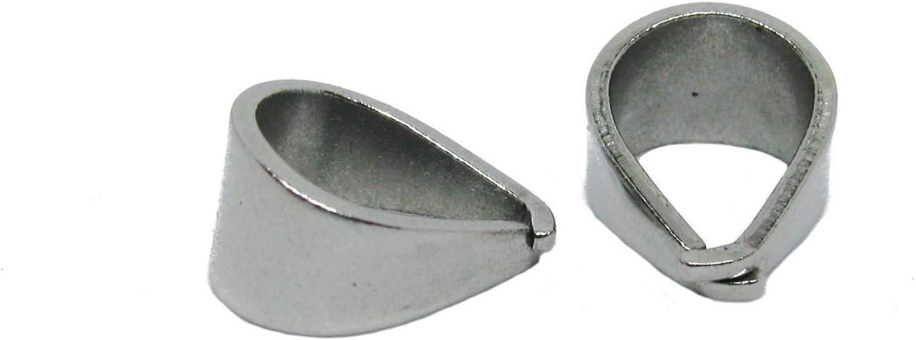 5 Anh/ängerschlaufen Edelstahl 12 mm Collierschlaufe f/ür Anh/änger, silberfarben