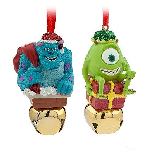 Sulley & Mike Wazowski Monsters Inc Jingle Bell Christmas Ornament Set Disney by Disney