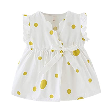 ca8a48d4c Image Unavailable. Image not available for. Color: ❤ Mealeaf ❤ Toddler Baby  Kids Girls Sleeveless Ribbons Bow Floral Dress Princess Dresses