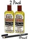 HOLLYWOOD BEAUTY Tea Tree Oil Skin & Scalp Treatment 8 oz (2Pack)with NickK Pencil