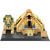 WANGE Great Pyramids of Giza-Egypt Mini Model Building Blocks Bricks STEM Enginering Toy