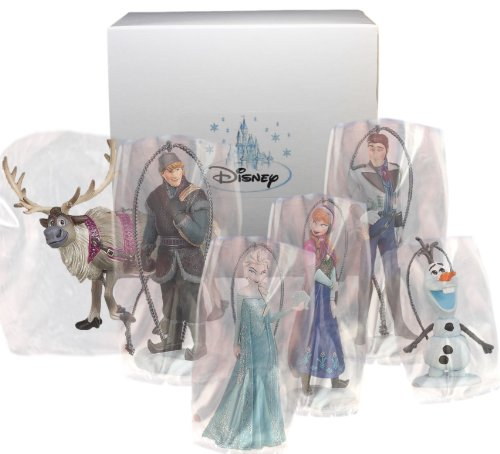 amazoncom disneys frozen holiday ornament set 6 pvc figure ornaments included limited availability home kitchen - Frozen Christmas Tree Ornaments