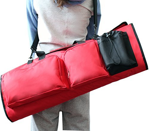 Sportsun Yoga Mat Bag with Open Ends - Dry and Odorless - Easily Adjustable-Headphone Ready- Great Capacity- Multifunctional, Oxford Cloth Bag